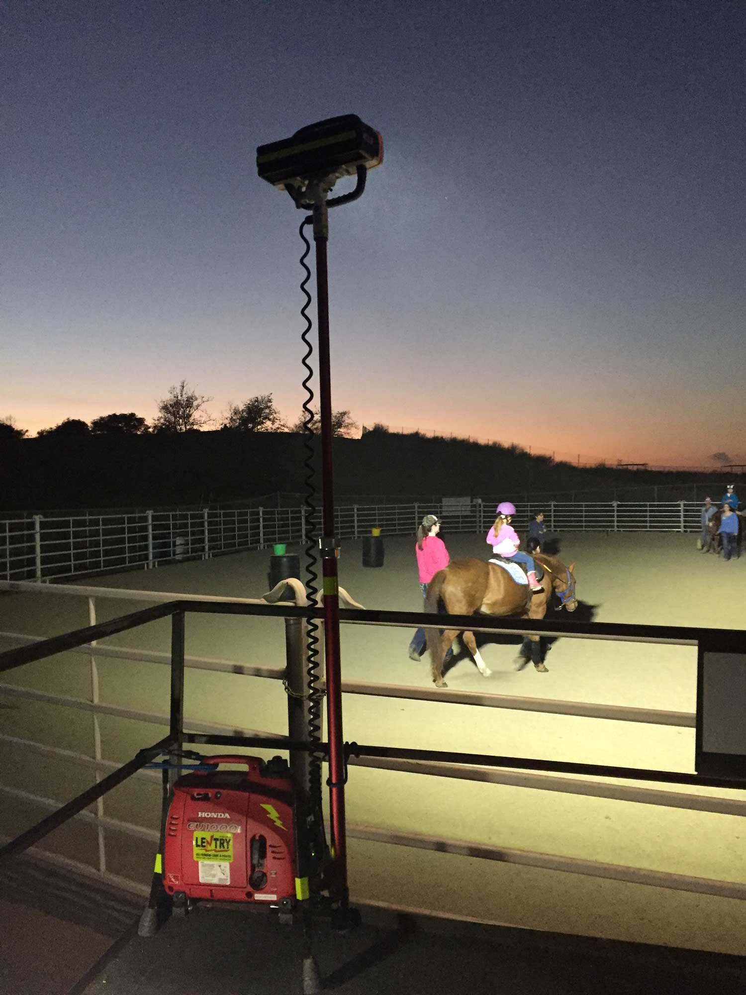 riding arena lighting. lighting applications · portable led lentry model 1starx lights the arena of theutic riding center