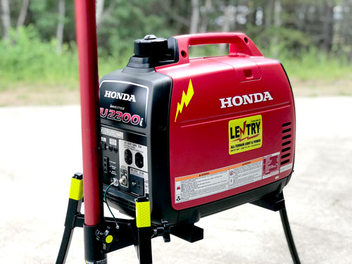 All Lentry Light Systems Shown With 2000 Watt Generators Now Come With  2200W Generators