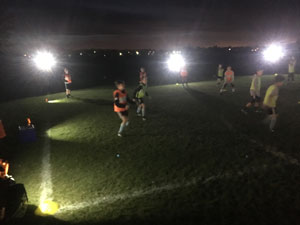 Players suffer with poor lighting from 9 lights during practice before discovering LENTRY Lights.
