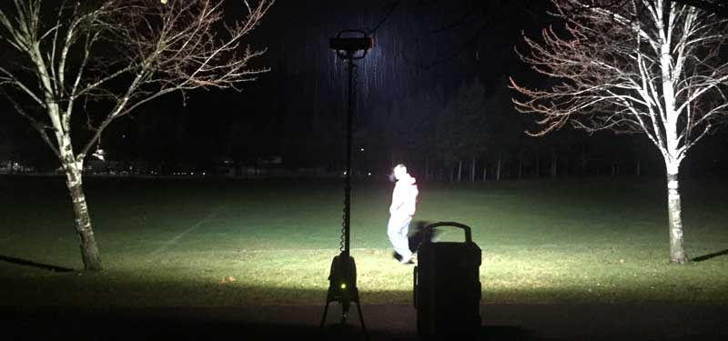 Lighting the field with LENTRY Light Model 1STARX.