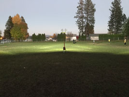 Click to enlarge. Photo of LENTRY Light lighting up a soccer field.