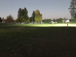 Field lit up by remote area lighting system. Click to enlarge.
