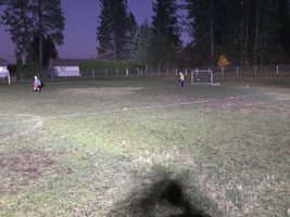 The solution for lighting sports fields: LENTRY Lights.